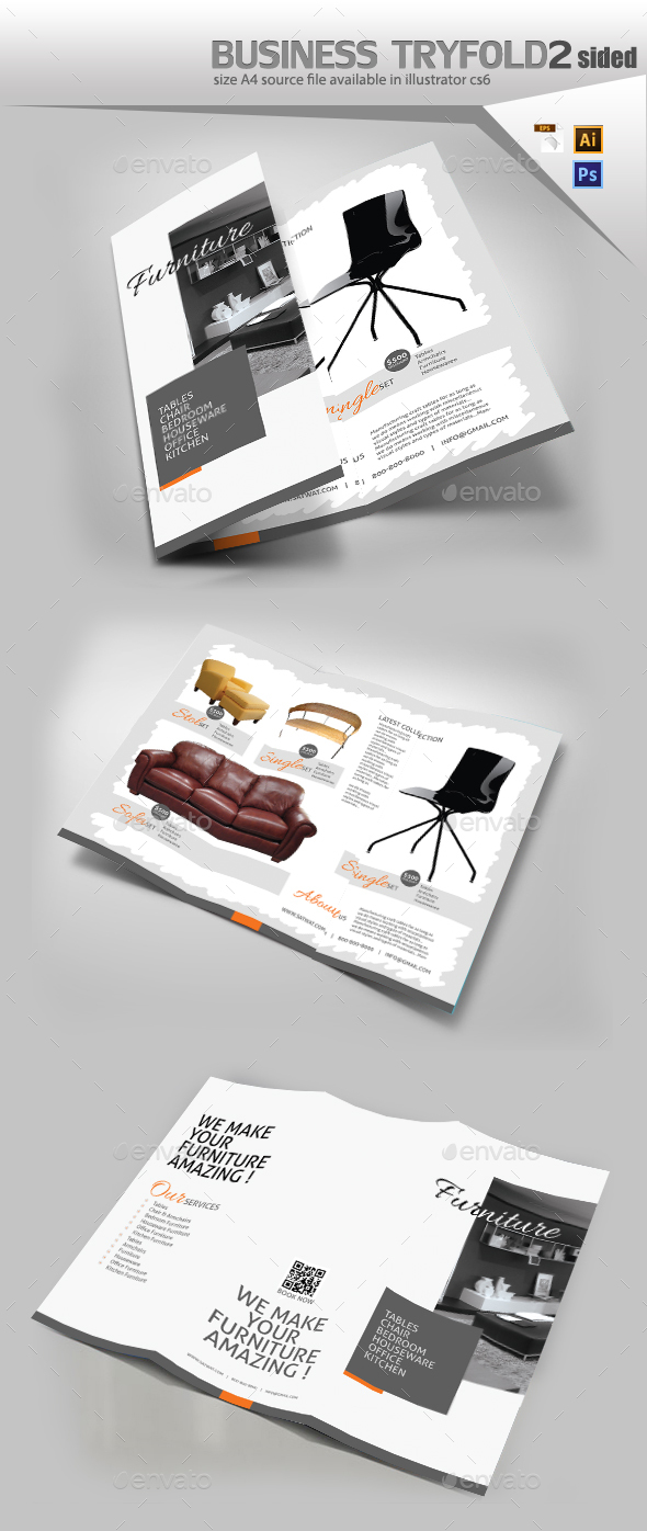 Furniture TriFold Brochure - Brochures Print Templates