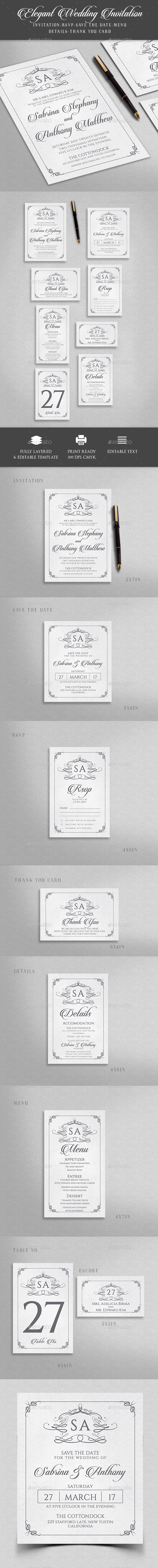 Elegant Wedding Invitation - Weddings Cards & Invites