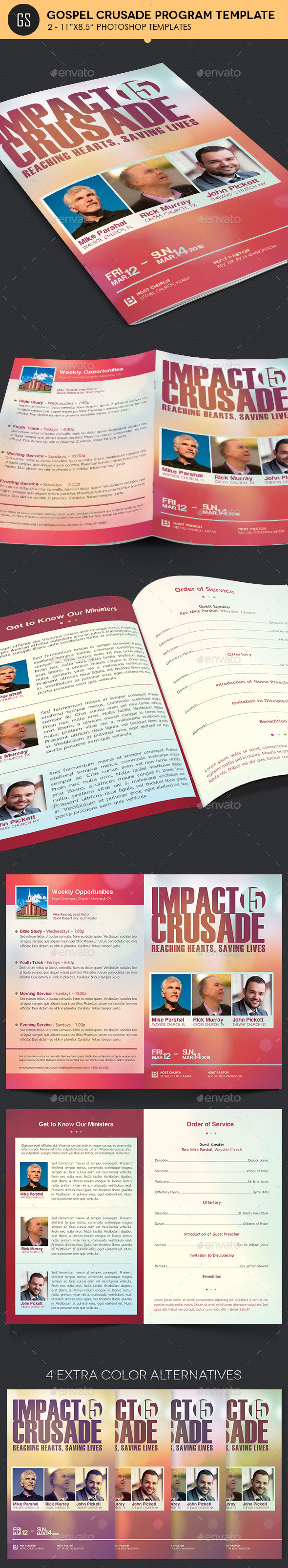 Gospel Crusade Program Template - Informational Brochures