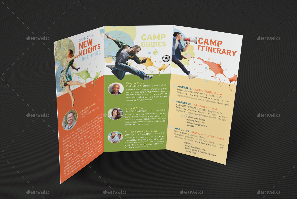 ... Image Set/Youth Camp Tri Fold Brochure  PreviewSET 7 ...