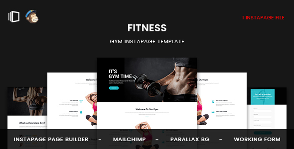 Fitness - GYM Instapage Template - Instapage Marketing