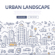 Urban Landscape Doodle Banner - GraphicRiver Item for Sale