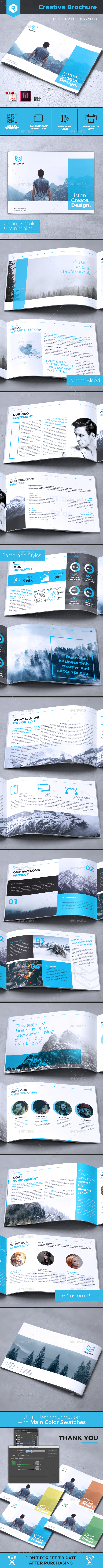 Creative Brochure Vol. 25 - A4 Landscape - Corporate Brochures