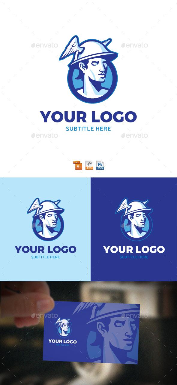 Hermes Head Logo - Humans Logo Templates