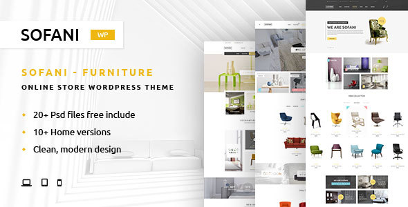Sofani - Furniture Store WooCommerce WordPress Theme - WooCommerce eCommerce