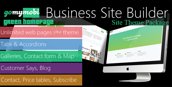 gomymobiBSB's Site Theme: Green Homepage - CodeCanyon Item for Sale