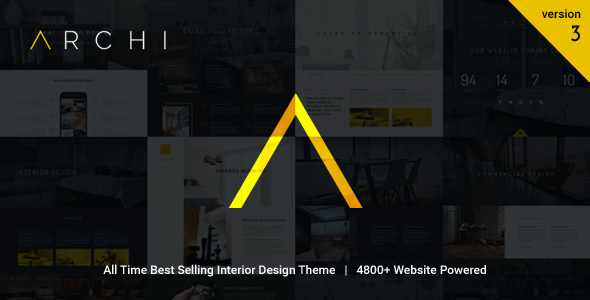 Archi interior design wordpress theme by oceanthemes themeforest for Interior design wordpress theme