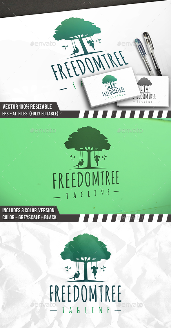 Freedom Tree Logo - Nature Logo Templates