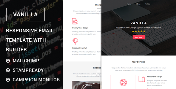 Vanilla - Responsive Multipurpose Email template with Stampready builder