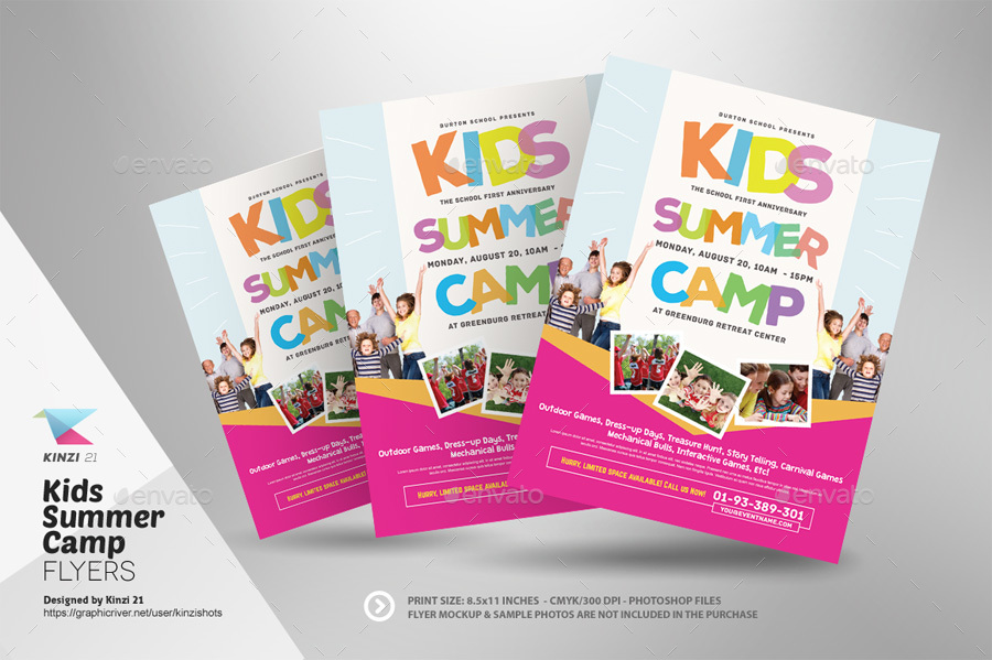 summer camp flyer template