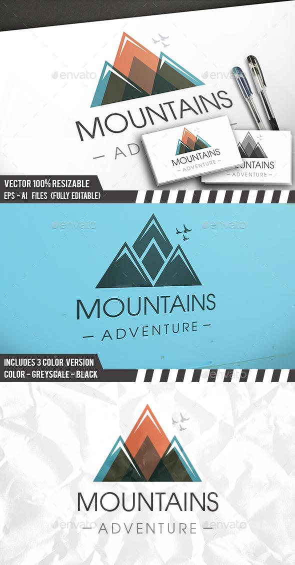 Colorful Mountain Logo - Vector Abstract
