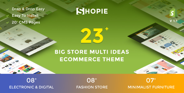 SHOPIE | Responsive Multi-Purpose Shopify Theme - Fashion, Clothing, Supermarket, Electronics, Minimal