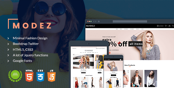 Image of Modez - Minimal Responsive HTML Template for Fashion Shop