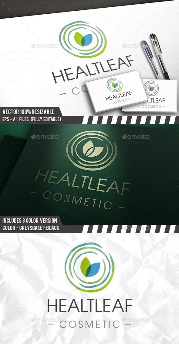 Spa Leaf Waves Logo - Company Logo Templates