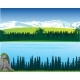 Landscape of the Mountains and Big Yard in Wood - GraphicRiver Item for Sale