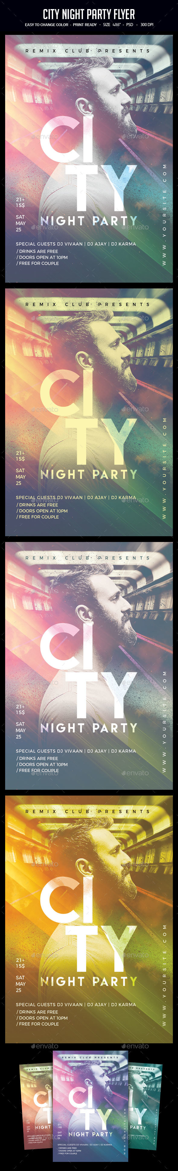 City Night Party Flyer - Clubs & Parties Events