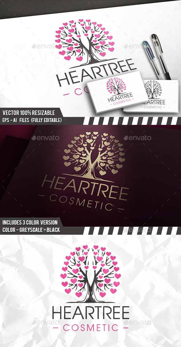 Tree Of Love Logo - Nature Logo Templates