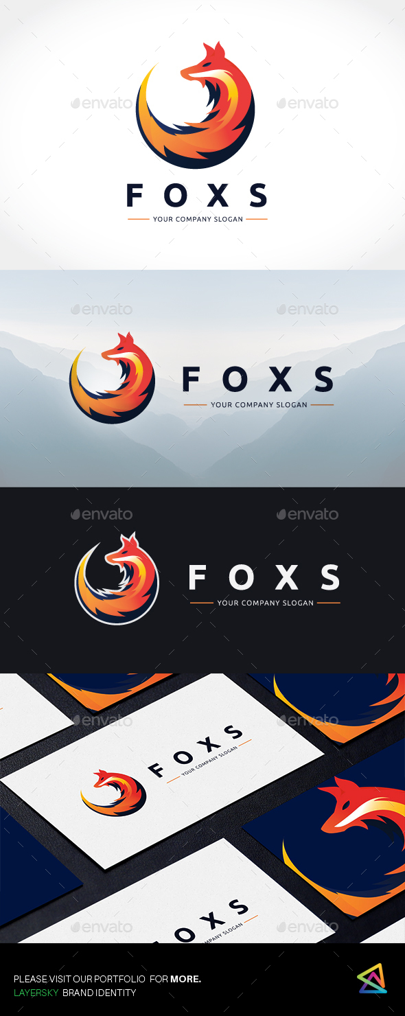 Fox Logo - Animals Logo Templates