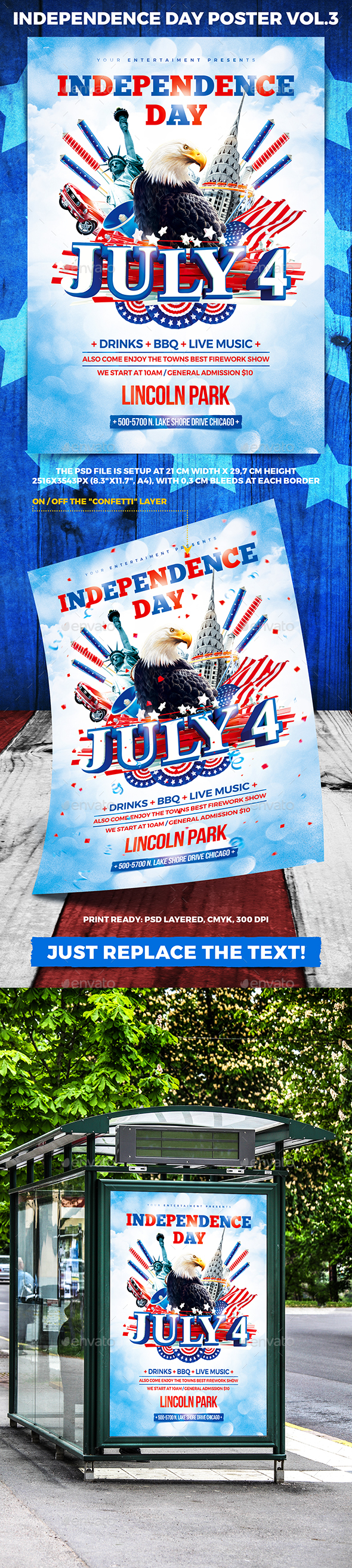 Independence Day Party Poster vol.3 - Holidays Events