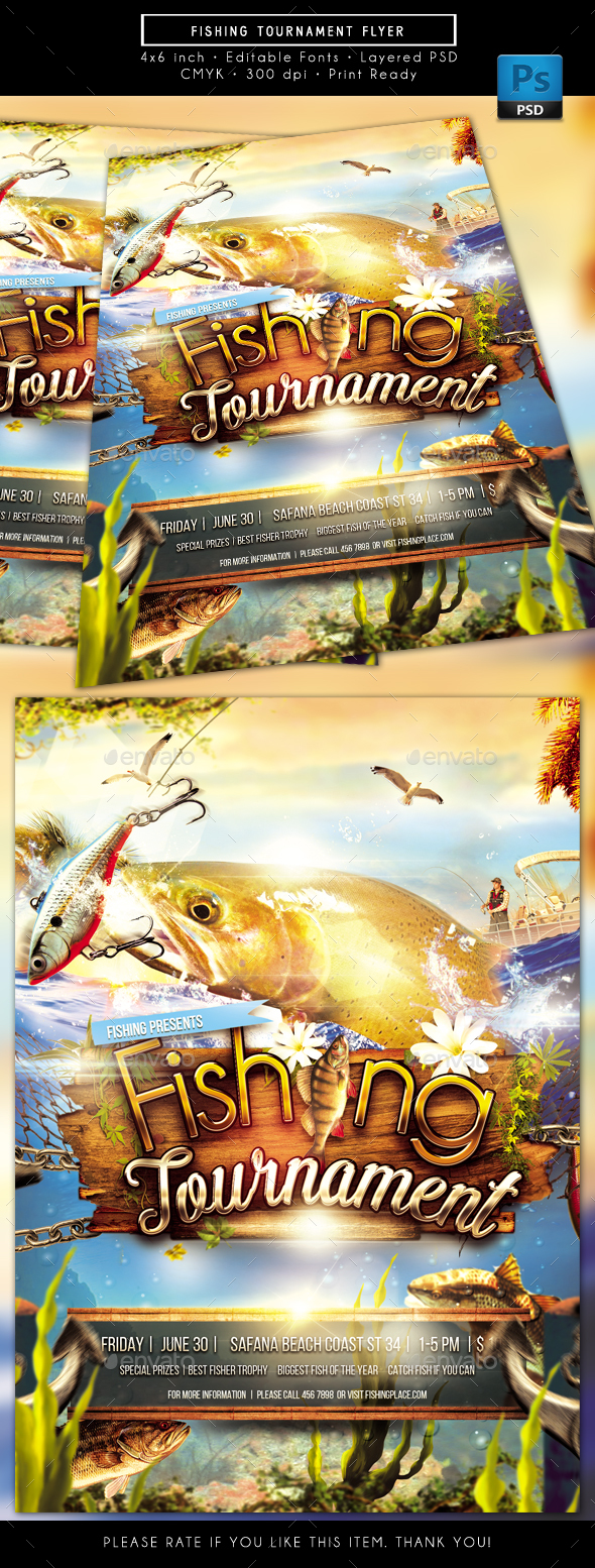 Fishing Tournament Flyer - Sports Events