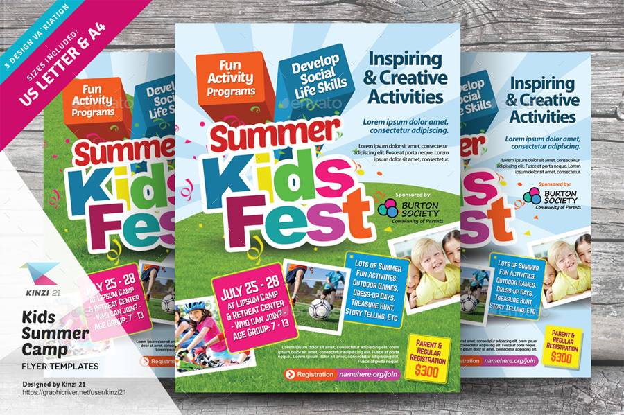 Kids Summer Camp Print Bundle