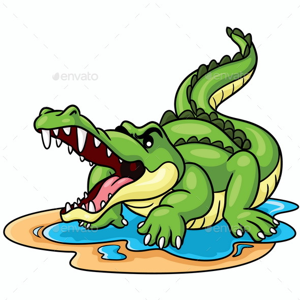 Crocodile Cartoon - Animals Characters
