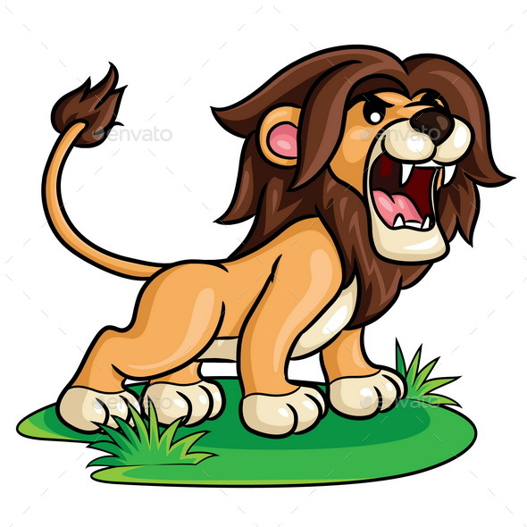 Lion Cartoon - Animals Characters