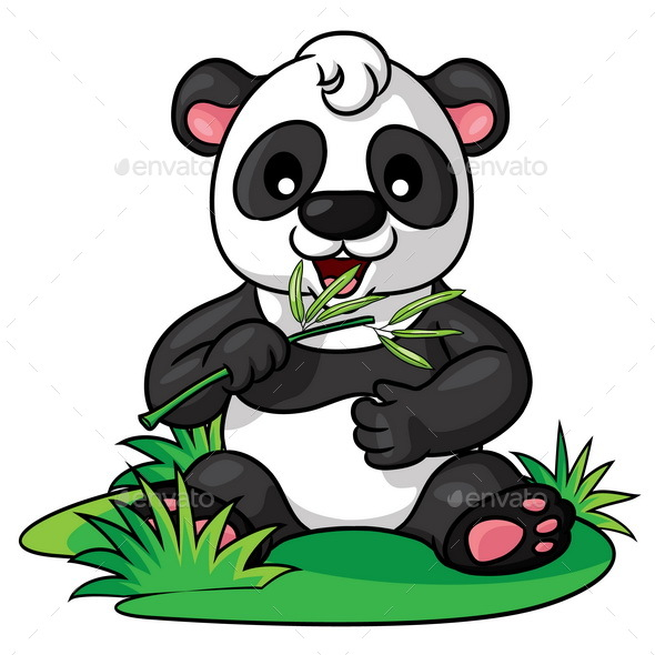 Panda Cartoon - Animals Characters