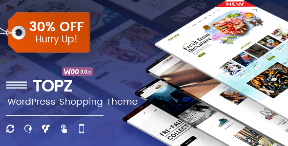 TopZ – Responsive Multipurpose WooCommerce WordPress Theme