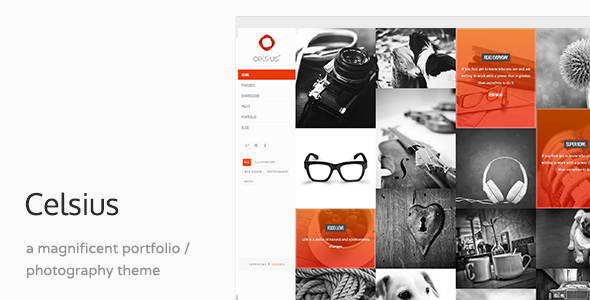 Celsius - Photography & Video Portfolio Responsive Joomla Template - Portfolio Creative
