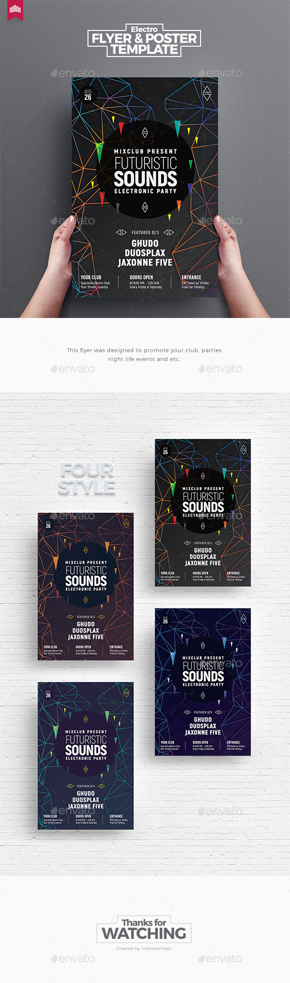 Futuristic Sound - Flyer Template - Clubs & Parties Events