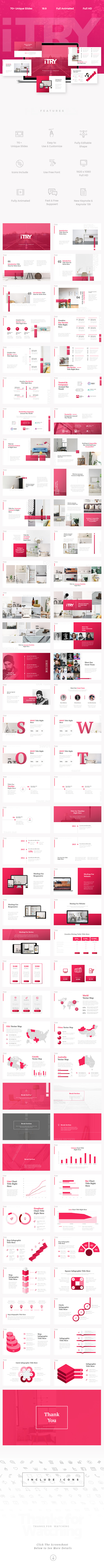iTry Keynote Template - Creative Keynote Templates