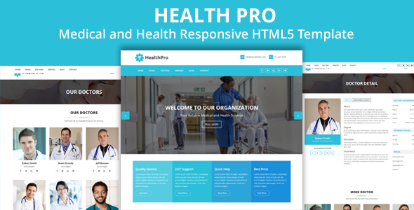 HealthPro – Medical and Health Responsive HTML5 Template