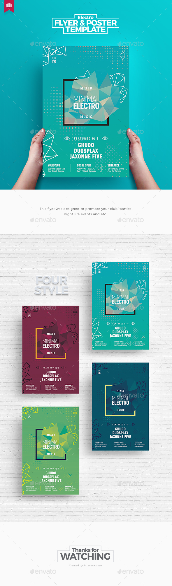 Minimal Electro - Flyer Template - Clubs & Parties Events