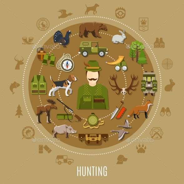 Hunting Concept Illustration - Sports/Activity Conceptual