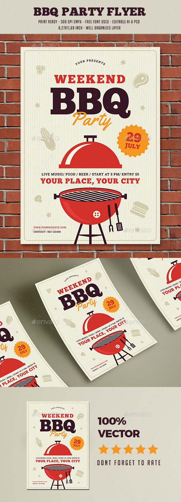 Barbeque Party Flyer - Holidays Events