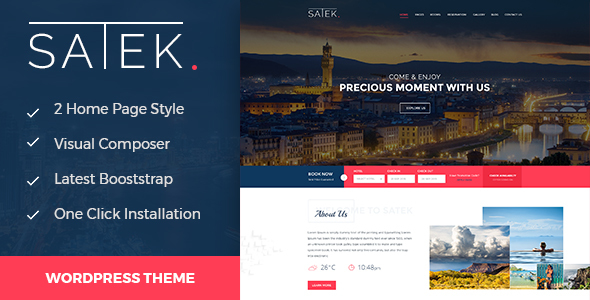 Image of Satek : Resort and Hotel WordPress Theme
