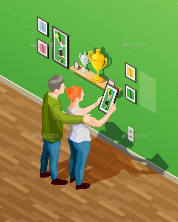Parents Isometric Illustration - People Characters