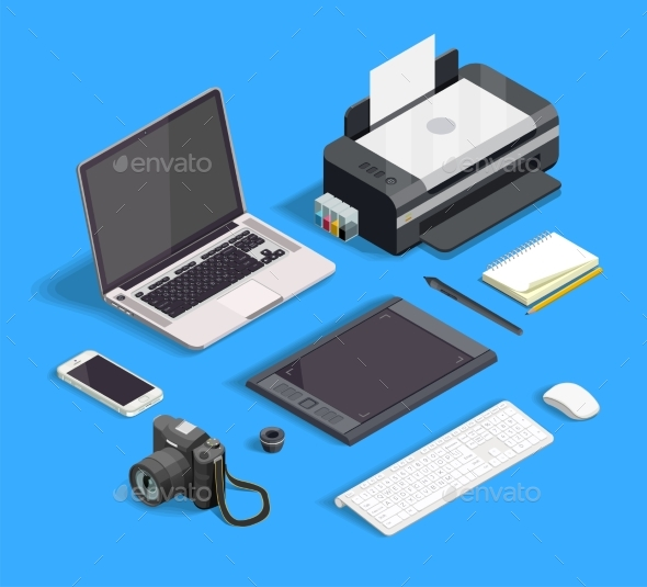 Graphic Design Set - Technology Conceptual