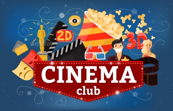 Cinema Theatre Club Background - Miscellaneous Vectors