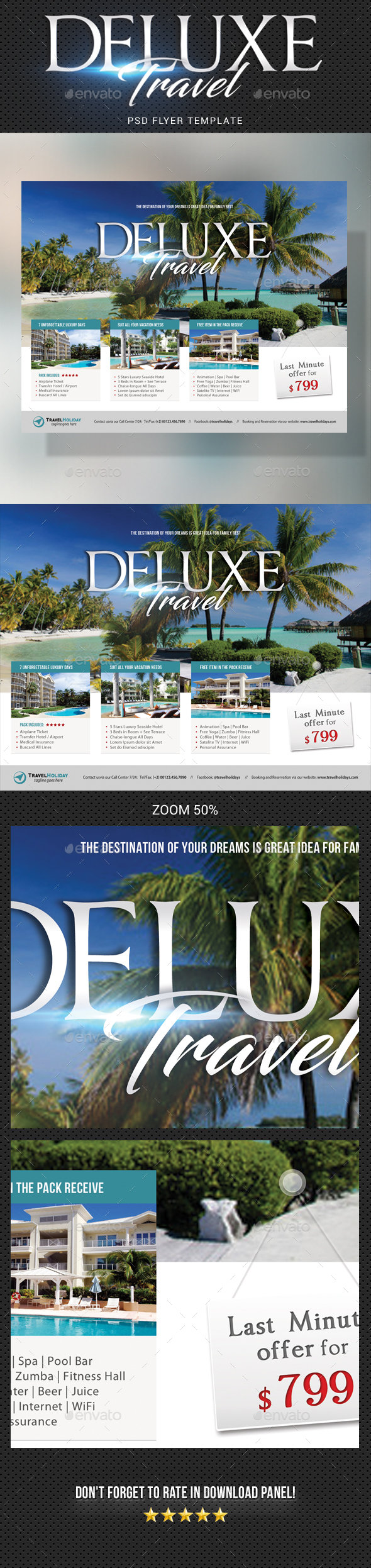 Travel Tour Flyer Template - Holidays Events