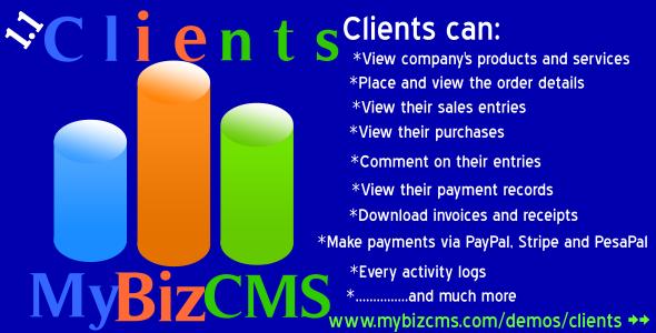 MyBizCMS Clients Addon - CodeCanyon Item for Sale