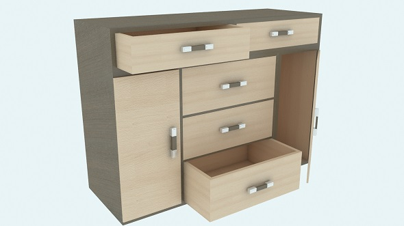 Modern wooden chest of drawers Vega - 3DOcean Item for Sale