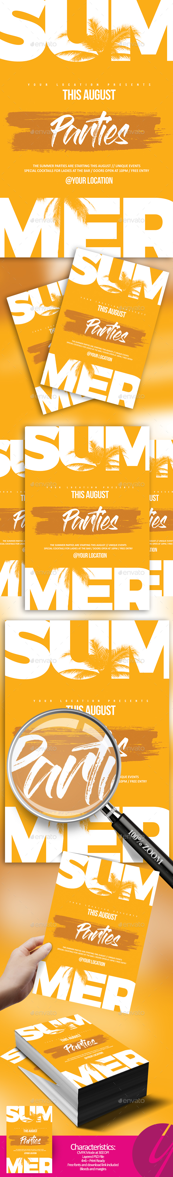 Minimalistic Summer Flyer - Clubs & Parties Events