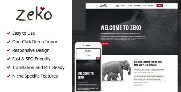Zeko - Charity/Non-Profit WordPress Theme - Charity Nonprofit