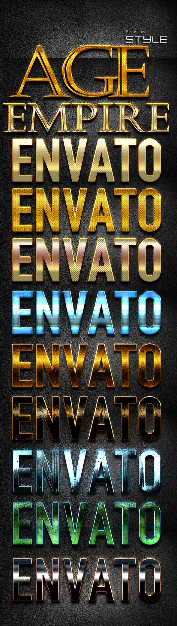 10 Shine Styles D170612 - Text Effects Styles