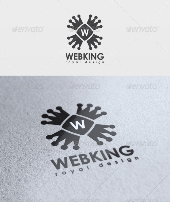 Web King Logo - Letters Logo Templates
