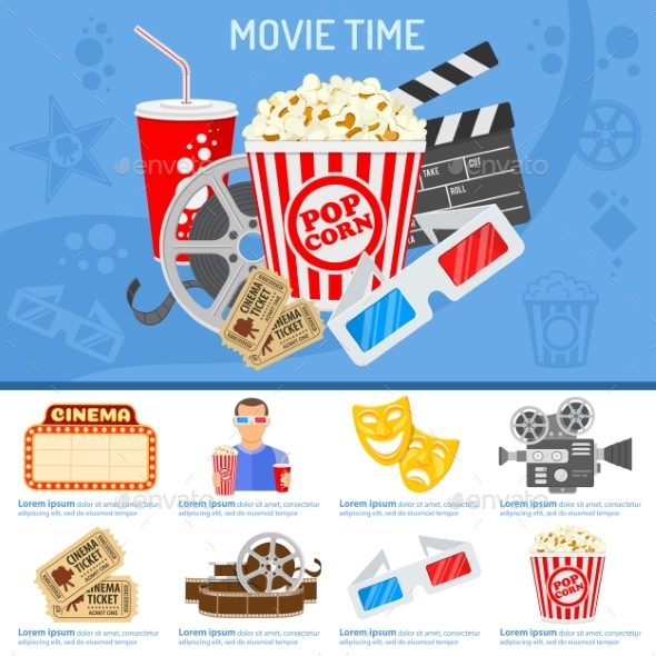 Cinema and Movie Time Concept - Media Technology