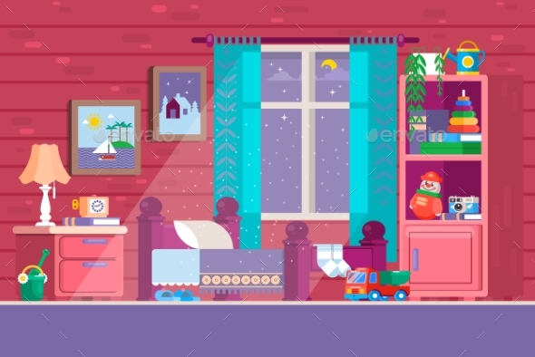 Kids Bedroom - Buildings Objects