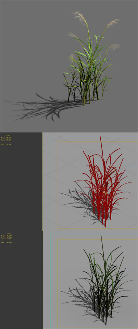 Game Model - Forest - Grass - 3DOcean Item for Sale